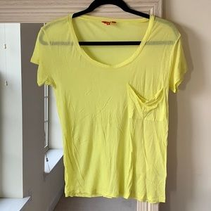 MADEWELL Hi-Line yellow t-shirt with pocket (S) ✨